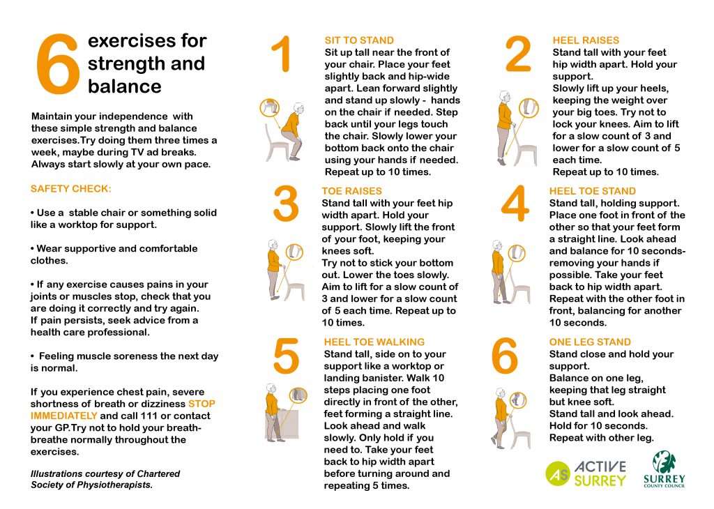 Active Surrey Exercises for Over 65s